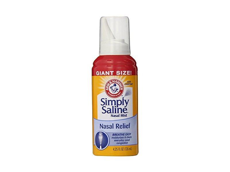 Arm & Hammer Simply Saline Nasal Relief Mist Spray, 4.25 fl. oz.