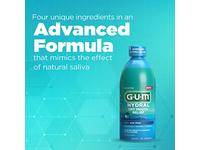 GUM Hydral Oral Rinse, Alcohol-Free Moisturizing Mint Mouthwash for Dry Mouth, 16.9 oz - Image 10