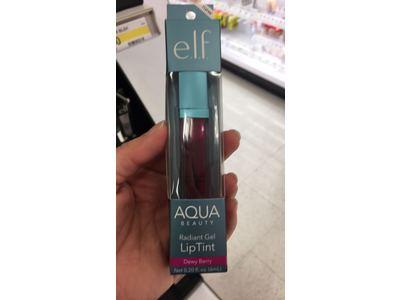 e.l.f. Aqua Beauty Radiant Gel Lip Tint, 57041 Dewy Berry, 0.20 fl oz - Image 3
