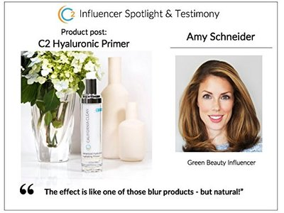 C2 California Clean Organic Skin Care Advanced Hyaluronic Hydrating Skincare Primer - 15 ml - Image 4