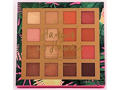 BH Cosmetics 16 Color Eyeshadow Palette, Hangin' In Hawaii, 0.56 oz - Image 1