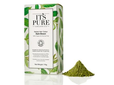 It's Pure Organics Herbal Hair Colour, Dark Brown, 110 g