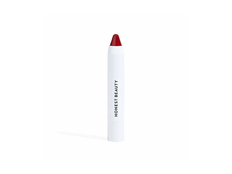 Honest Beauty Lip Crayon-Demi-Matte, Strawberry, .105 oz