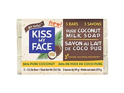 Kiss My Face Pure Coconut Milk Soap Bar with Coconut Oil, 3.5 Ounce, 3 Pack - Image 1