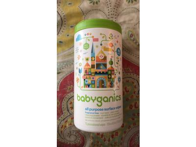 BabyGanics All-Purpose Surface Wipes, Unscented, 75 Count (Pack of 3) - Image 3