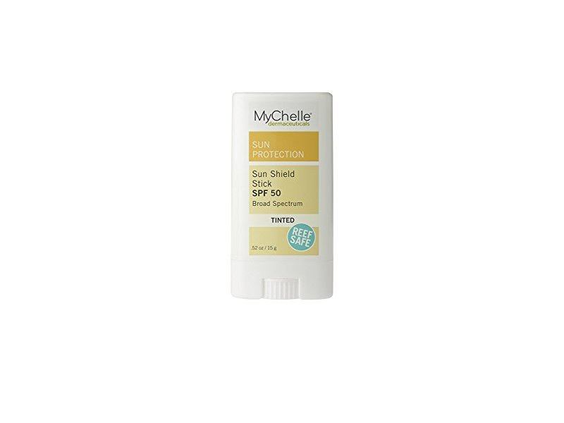 MyChelle Sun Shield Tinted Stick SPF 50, Zinc-Oxide Tinted Sunscreen for All Skin Types, 0.5 fl oz