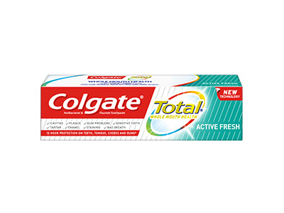 Colgate Total Toothpaste, Active Fresh, 75 mL