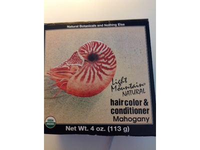 Light Mountain Natural Hair Color & Conditioner, Mahogany, 4 oz - Image 4