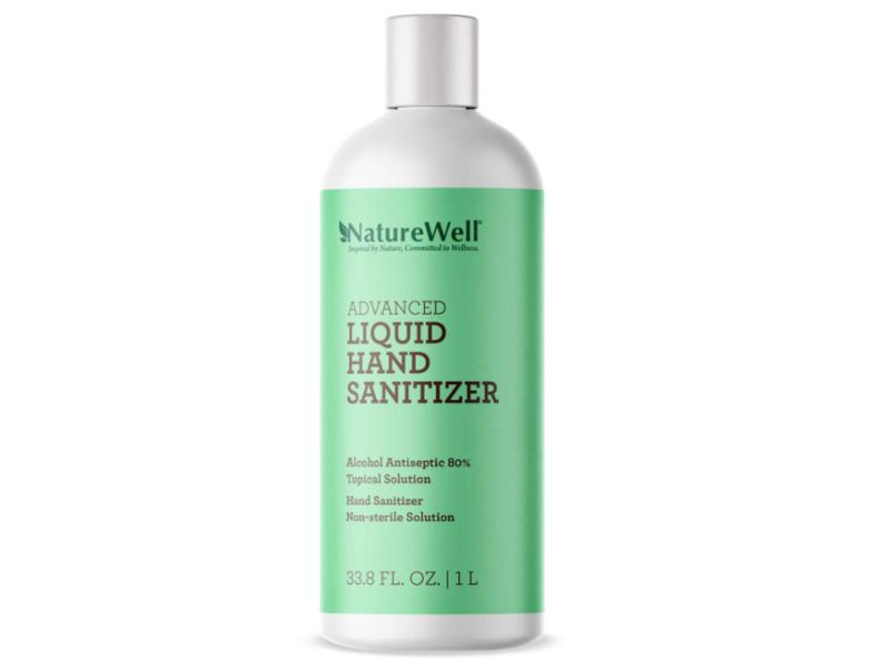 NatureWell Advanced Liquid Hand Sanitizer, 33.8 fl oz / 1 L