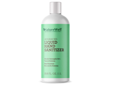 NatureWell Advanced Liquid Hand Sanitizer, 33.8 fl oz / 1 L