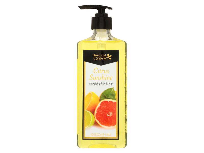 Personal Care Citrus Fresh Liquid Hand Soap With Pump, 15 oz.