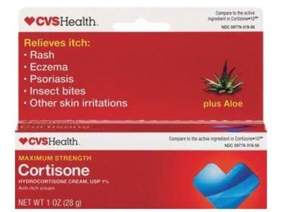 CVS Health Maximum Strength Cortisone Cream, 1 oz