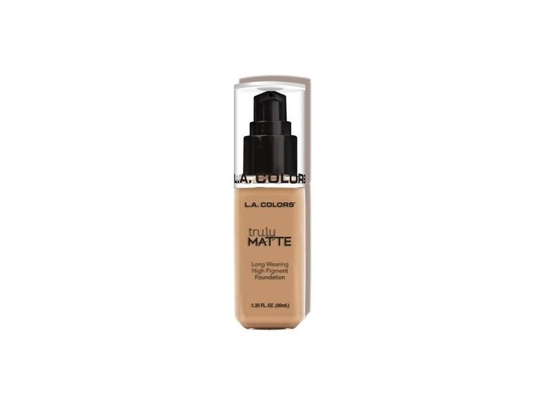 L.A. Colors Truly Matte Foundation, Soft Beige, Natural, Porcelain, Cafe, 1 fl oz