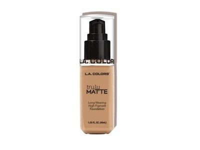 L.A. Colors Truly Matte Foundation, Soft Beige, Natural, Porcelain, Cafe, 1 fl oz - Image 1