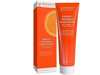 GreenSprout Botanicals Vitamin C Refreshing Facial Cleanser, 4.2 Ounce