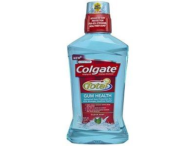 Colgate Total for Gum Health Mouthwash, Clean Mint - 500 mL (6 Pack)