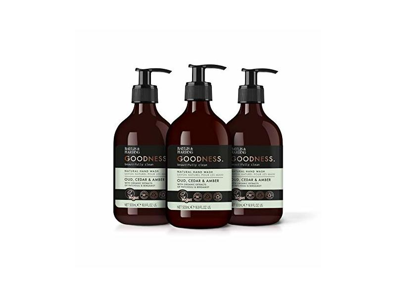 Baylis & Harding Goodness Oud Hand Wash, Cedar & Amber, 500ml
