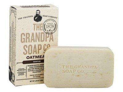 The Grandpa Soap Company Oatmeal Bar Soap, Soothe, 4.25 oz/120 g, Pack Of 4