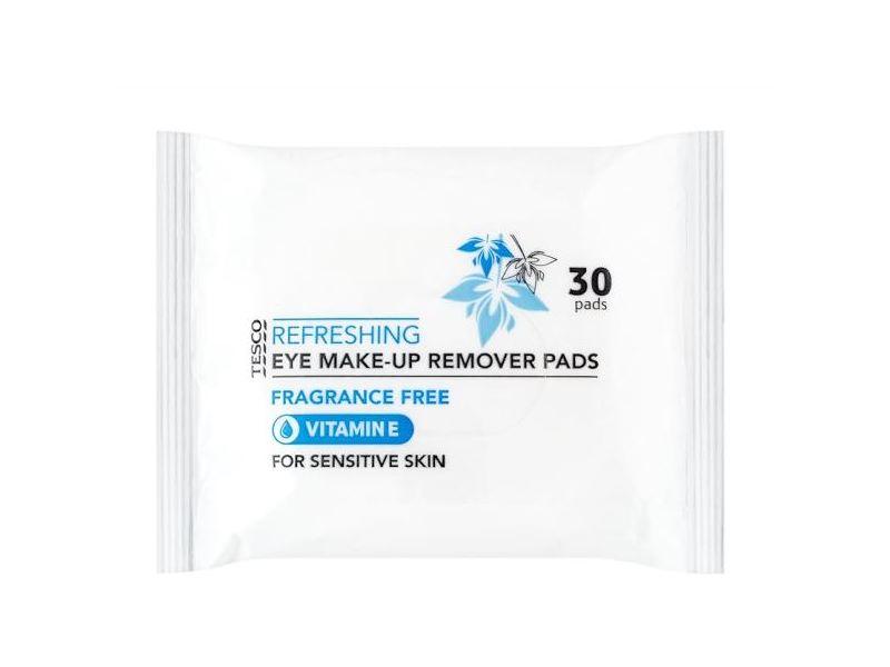 Tesco Sensitive Eye Make-Up Remover Pads, Fragrance Free, 30 pads