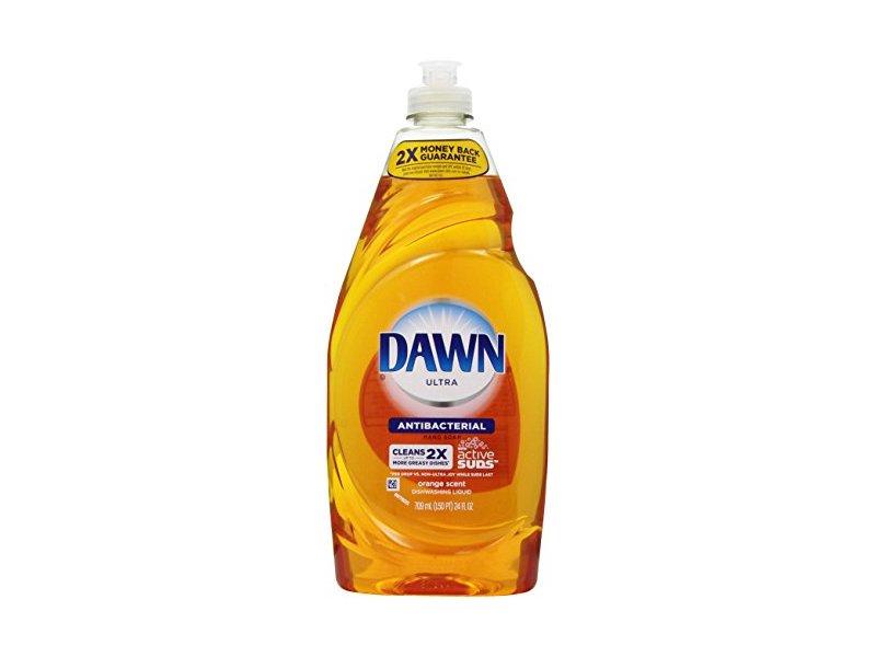 Dawn Ultra Antibacterial Hand Soap/Dishwashing Liquid, Orange Scent, 24 fl oz