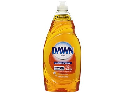 Dawn Ultra Antibacterial Hand Soap/Dishwashing Liquid, Orange Scent, 24 fl oz