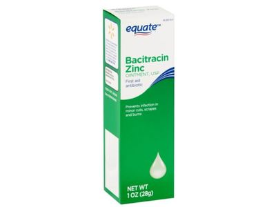 Equate Bacitracin Zinc First Aid Antibiotic Ointment, 1 oz