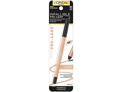 L'Oreal Paris Cosmetics Infallible Pro-Last Waterproof Pencil Eyeliner, Nude, 0.042 Ounce - Image 1