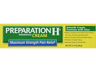 Prep H Maximum Strength Pain Relief Hemorrhoidal Cream with Aloe, 0.9 oz - Image 1