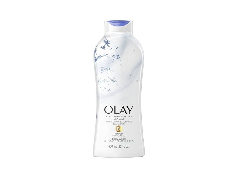 Exfoliate & Replenish Olay Daily Exfoliating with Sea Salts Body Wash