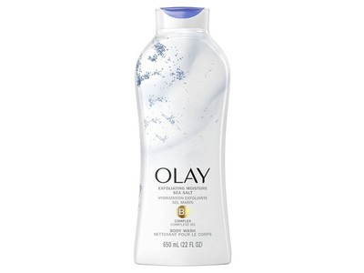 Exfoliate & Replenish Olay Daily Exfoliating with Sea Salts Body Wash