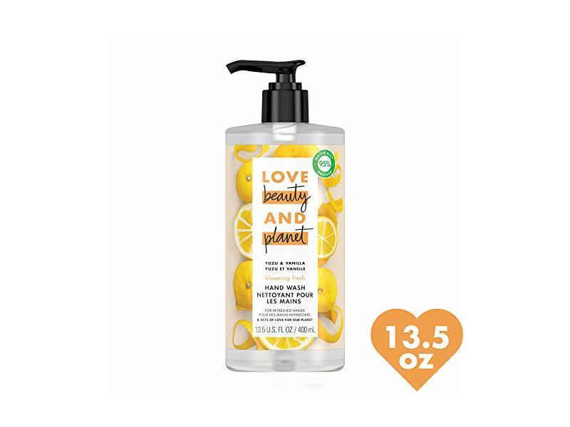 Love Beauty and Planet Hand Wash for Hand Skin Care Citrus Yuzu & Vanilla, 13.5 fl oz