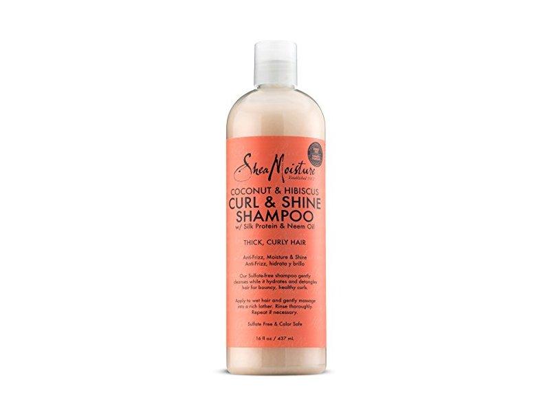 SheaMoisture Coconut & Hibiscus Curl & Shine Shampoo, 16 fl. oz