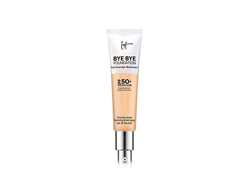 It Cosmetics Bye Bye Foundation Full Coverage Moisturizer, SPF 50+, Medium, 1 fl oz/30 mL