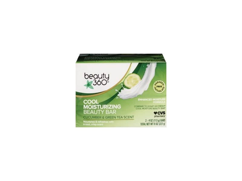 Beauty 360 Cool Moisturizing Cucumber & Green Tea Beauty Bar