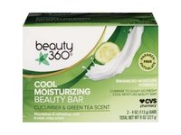 Beauty 360 Cool Moisturizing Cucumber & Green Tea Beauty Bar - Image 2