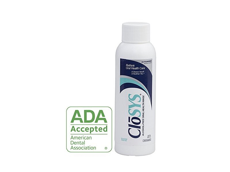 CloSYS Original Unflavored Mouthwash, Alcohol Free, 3.4 ounce (Pack of 48)
