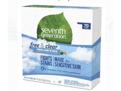 Seventh Generation Natural Laundry Detergent Powder, Free and Clear, 112 oz