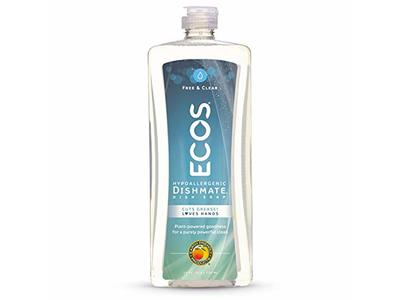 Earth Friendly ECOS Dishmate Dish Liquid, Free & Clear, 25 fl oz (Pack of 2)