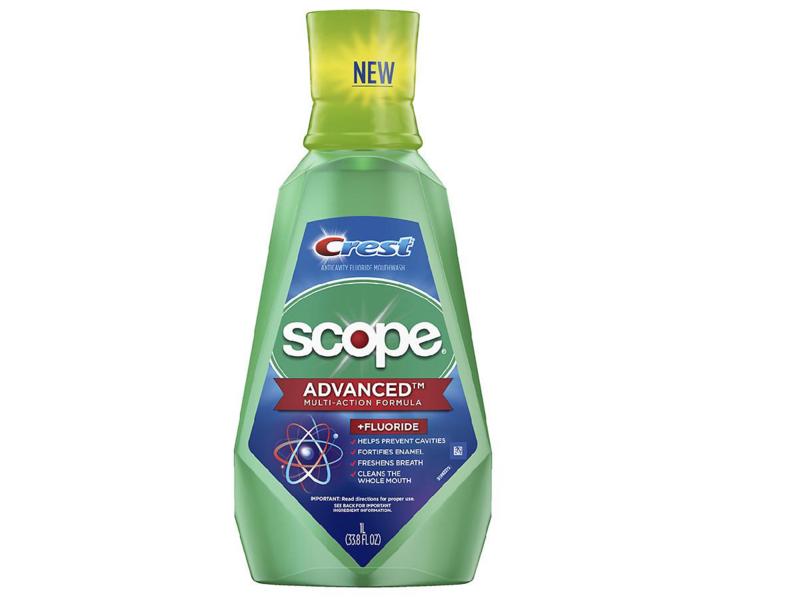 Crest Scope Advanced Multi-Action Fluoride Mouthwash, 33.8 fl oz