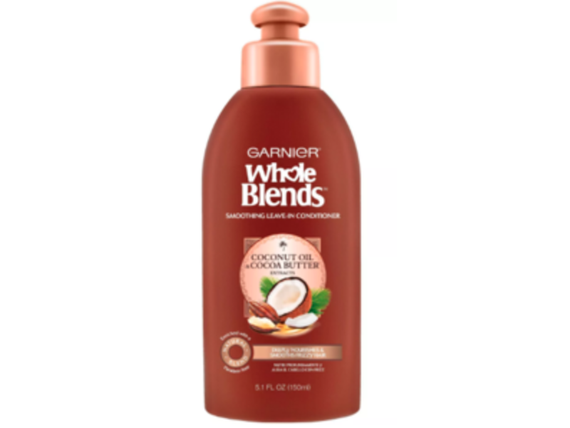 Garnier Whole Blends Smoothing Leave-In Conditioner, 5.1 fl oz/150 mL
