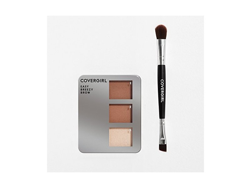 COVERGIRL Easy Breezy Brow Powder Kit, Rich Brown