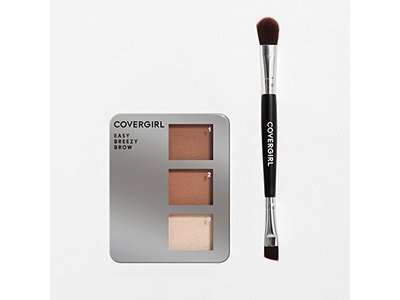COVERGIRL Easy Breezy Brow Powder Kit, Rich Brown - Image 1