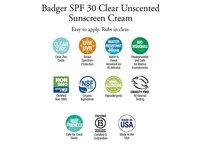 Badger Active Broad Spectrum SPF 30, Clear Zinc, 2.9 fl oz - Image 6