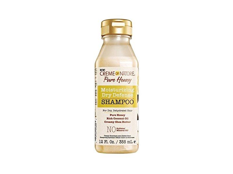 Creme Of Nature Moisturizing Dry Defense Shampoo, Pure Honey, 12 fl oz (Pack of 6)
