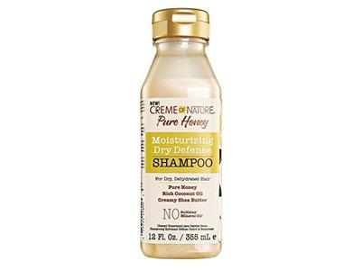 Creme Of Nature Moisturizing Dry Defense Shampoo, Pure Honey, 12 fl oz (Pack of 6) - Image 1