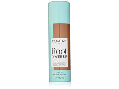 L'Oreal Paris Root Cover Up Temporary Gray Concealer Spay, Light to Medium Brown, 2 Ounce