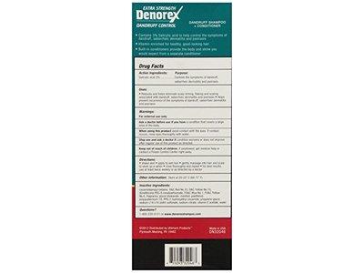 Denorex Extra Strength Dandruff Control Shampoo + Conditioner 10 Oz - Image 5