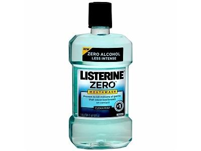 Listerine Zero Antiseptic Mouthwash, Clean Mint, Johnson & Johnson - Image 1