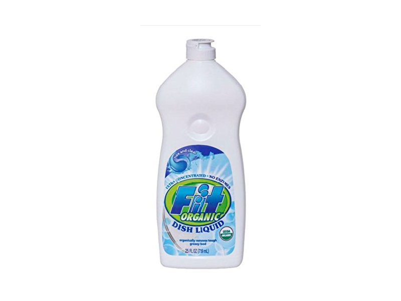 Fit Organic Hand Dishwashing Detergent, Free and Clear, 25 Ounce