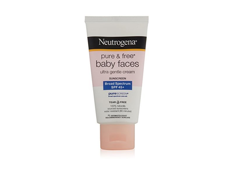 Neutrogena Pure & Free Baby Faces Ultra Gentle Cream Broad Spectrum 45+ Sunscreen